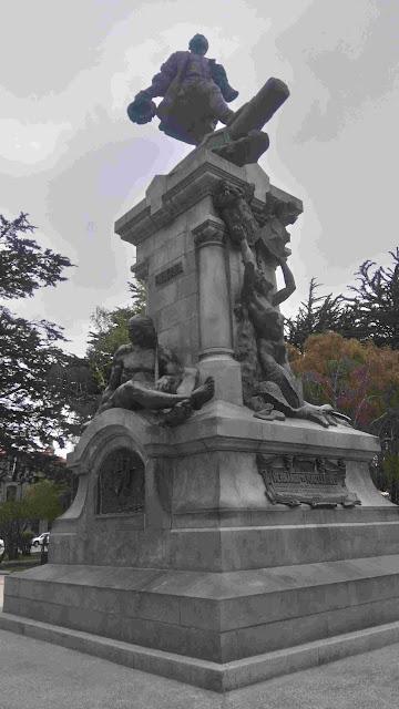 Monument to Ferdinand Magellan in Punta Arenas, Chile.