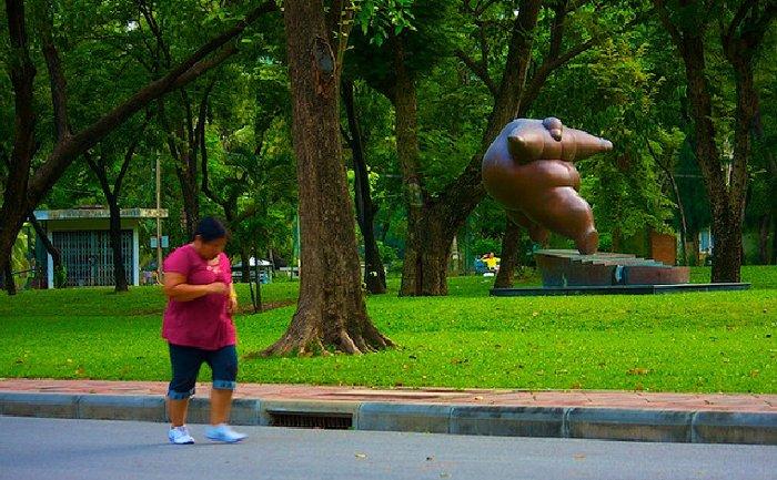 Пробежка в парке Бангкока