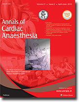 ACA - Annals of Cardiac Anaesthesia