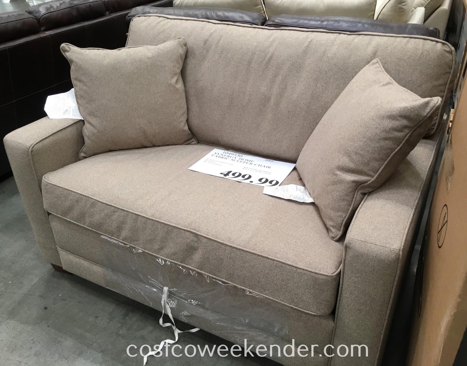 Synergy Home Fabric Sleeper Chair  Costco Weekender