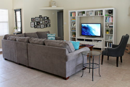 charcoal gray sectional away she went