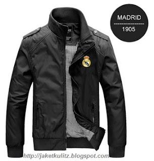 Gambar Jaket Kulit Real Madrid Hitam