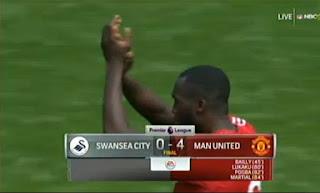 Manchester United Libas Swansea City dengan Skor Telak 4-0