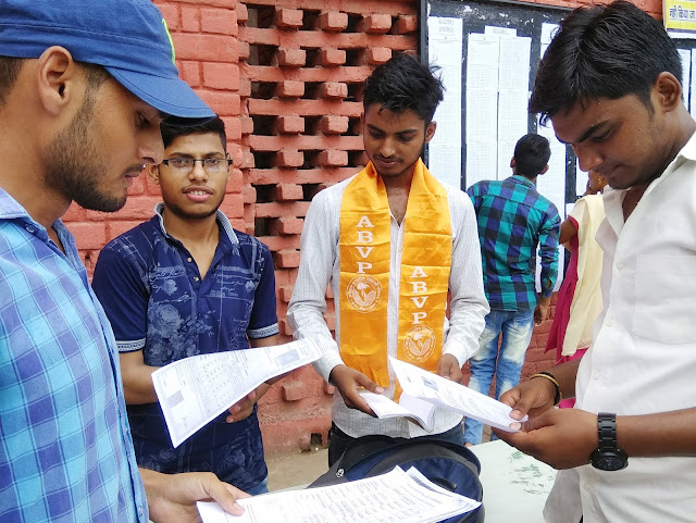 All India Vidyarthi Parishad organized a Help Desk at Nehru College and ITI
