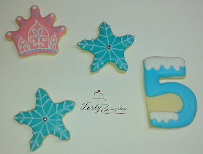ciasteczka na przyjecie krainy lodu