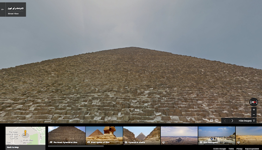 Walk like an Egyptian with Street View in Google Maps