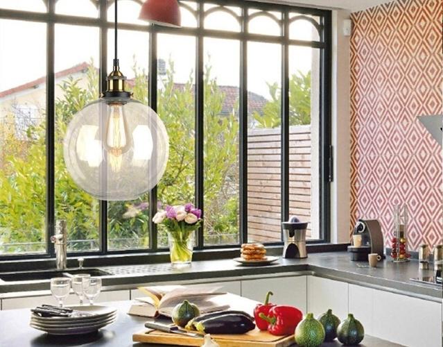 estilo vintage-lámparas colgantes para cocina