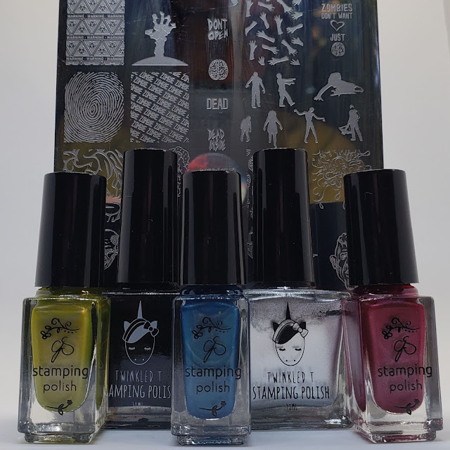clear jelly stamper, twinkled t, uber chic, stamping, nail art stamping