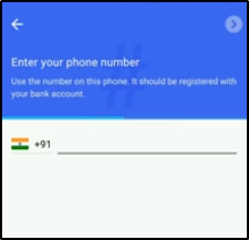 enter mobile number