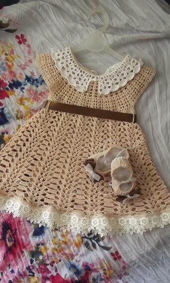 Crochet Dress Baby Easy Pattern Free Online