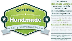 I am Handmade Certified!