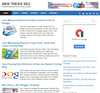 Template Blog SEO Friendly Legendaris.