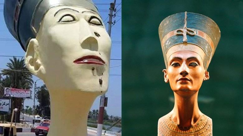 Egypt removes hideous statue of Nefertiti