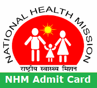 NHM UP Admit Card 2017