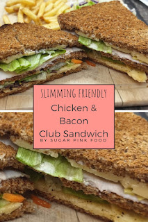 chicken and bacon club sandwich