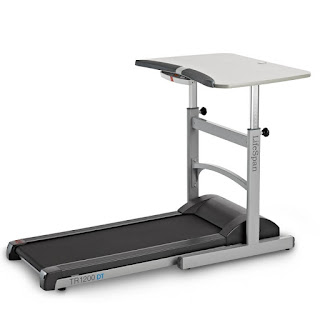 TR1200-DT5 Grey Desk with Treadmill