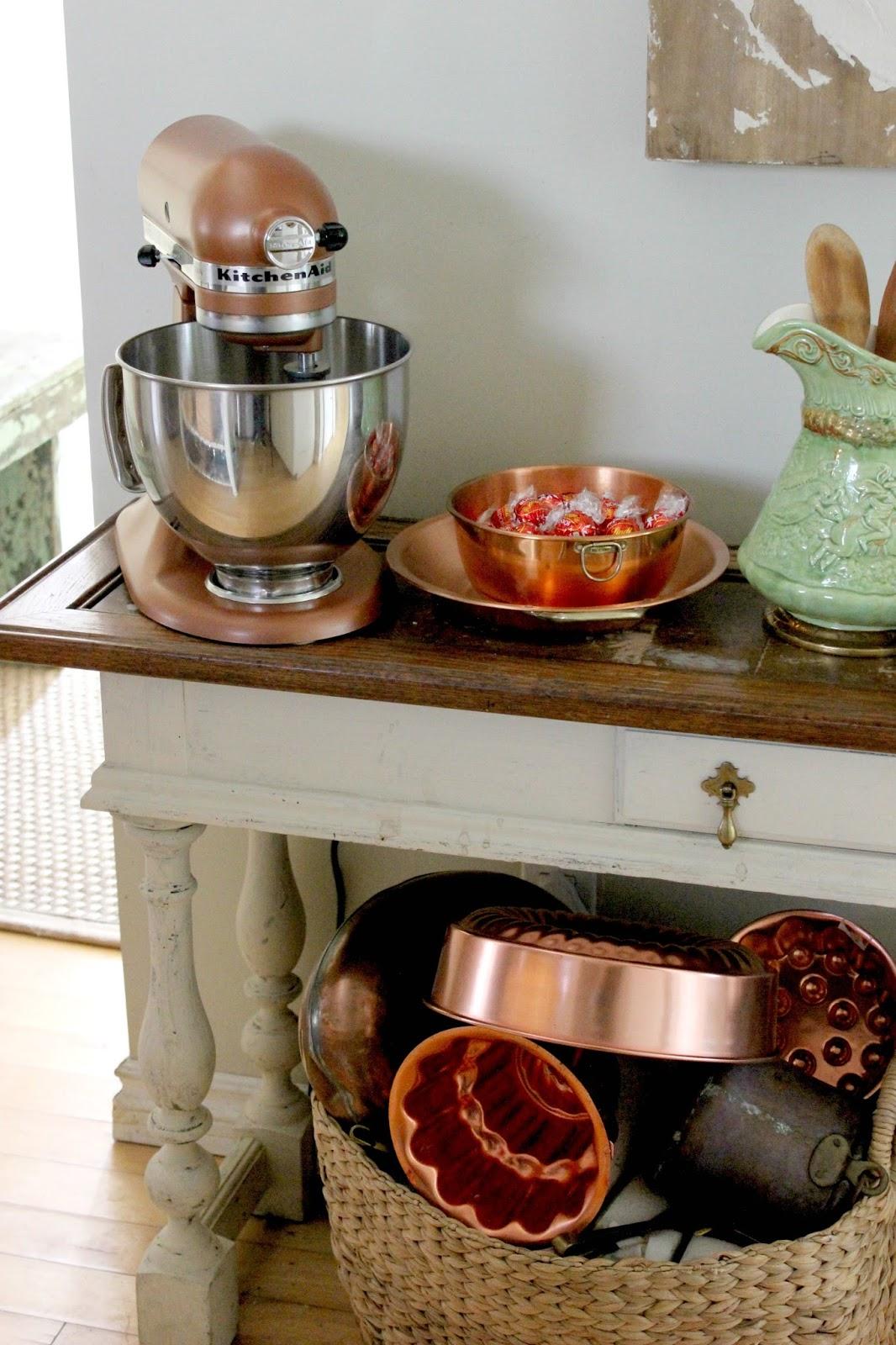 Copper Kitchen Aid Mixer Islands Maison Decor