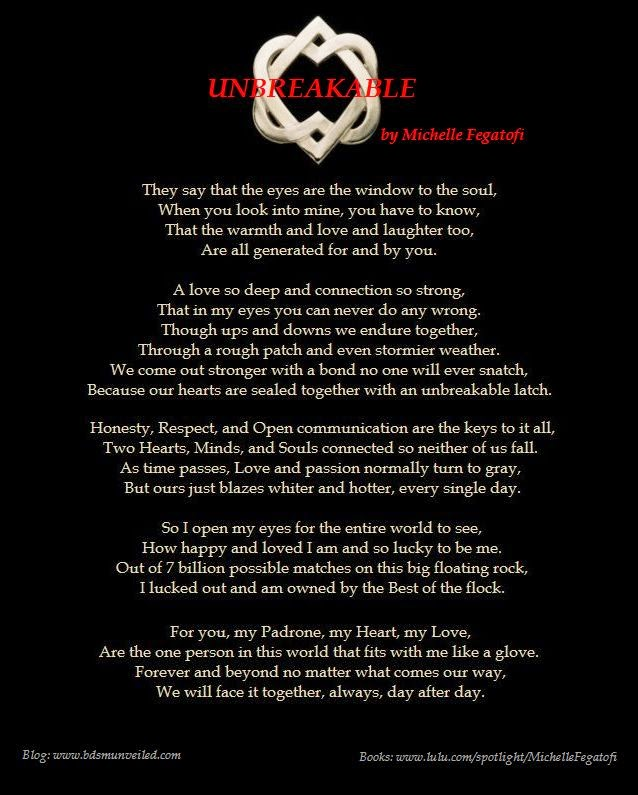 http://bdsmunveiled.com/2013/04/unbreakable-by-michelle-fegatofi.html