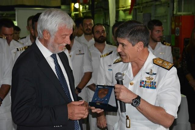 Τον Περιφερειάρχη Πελοποννήσου τίμησε ο Αρχηγός του Στόλου κ. Ιωάννης Παυλόπουλος