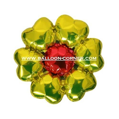 Balon Foil Enam Hati / Foil 6 Hati