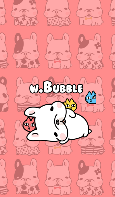 French Bulldog-White Bubble