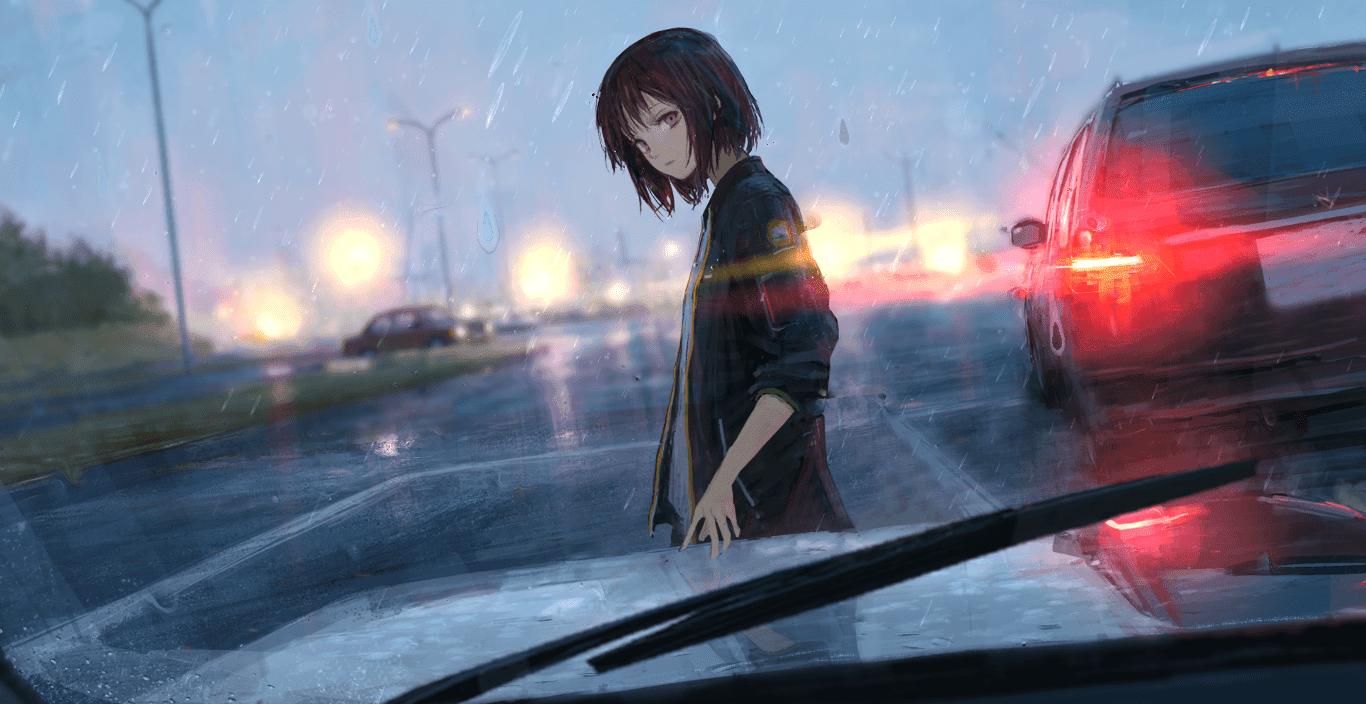Rainy Car「ー」/「しおん」 [Wallpaper Engine Anime]