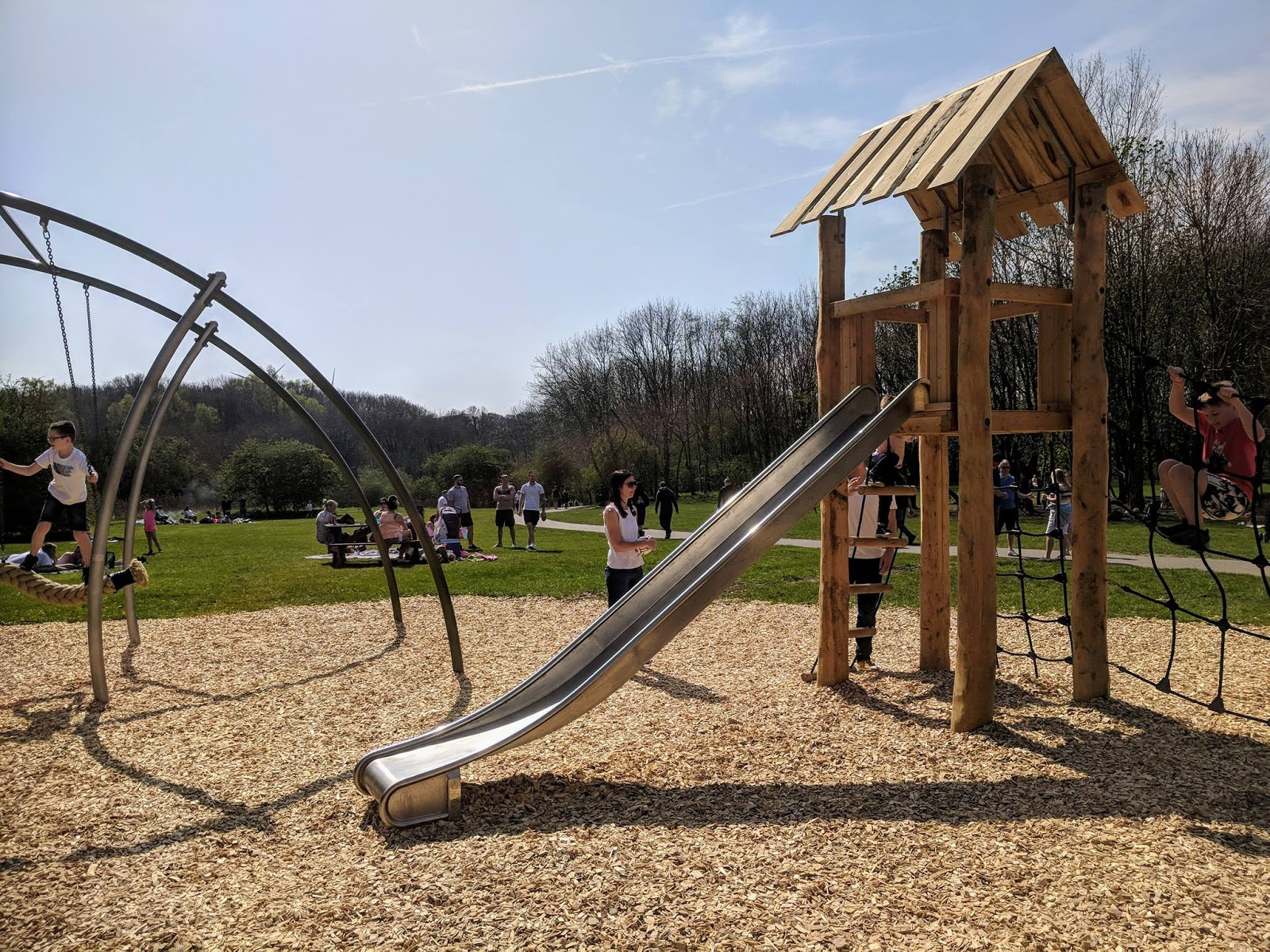 Plessey Woods Art Trail & New Play Park  - climbing frame