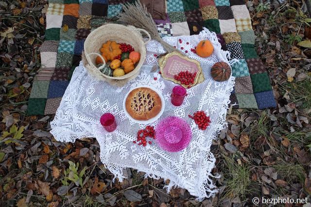 фото пикник осенью