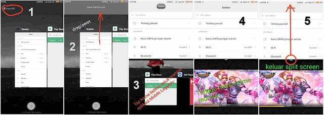 Cara Menggunakan Mode Split Screen (Droneview/Dronemode) Pada Xiaomi Miui 9 Game Mobile Legends