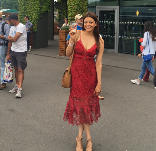 Kajal                Agarwal latest hot photos at Wimbledon