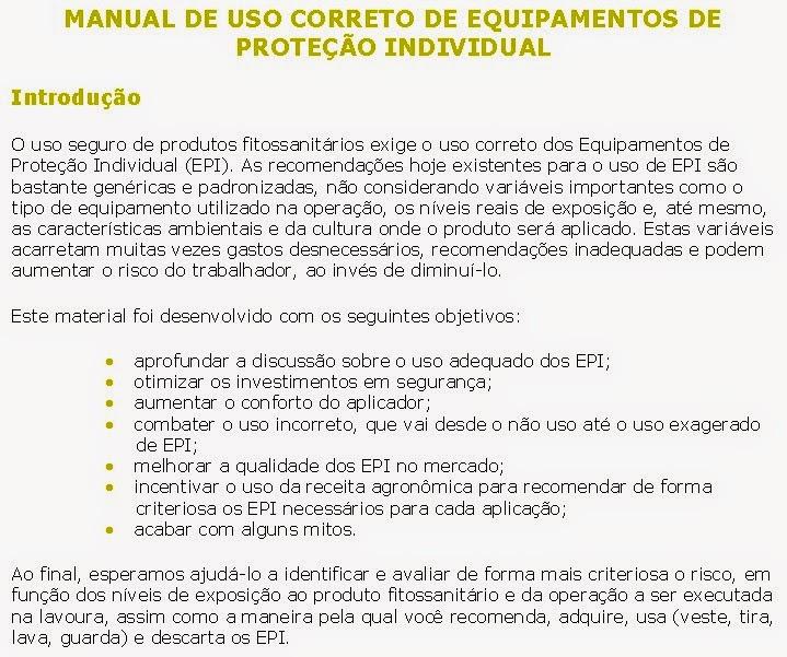 Banner EPI - Manual de uso correto do Equipamento de Proteção Individual -  Introdução 56e1ba3a04