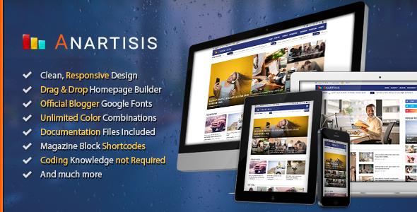 Download Anartisis v1.5.5 News & Magazine Blogger Theme