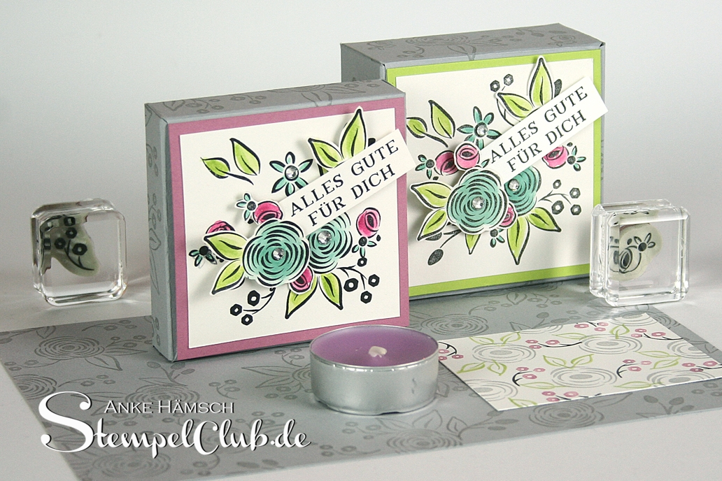 Verpackung für Teelichter mit dem Envelope Punchboard, Falzbrett für Umschläge