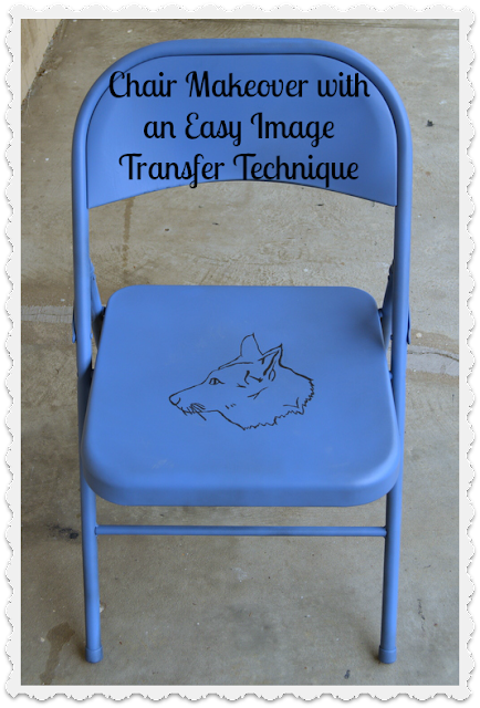 Tutorial Thursday - Quick Folding Chair Makeover with an Easy Image Transfer Techniques