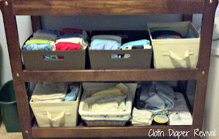 changing table cloth diaper storage