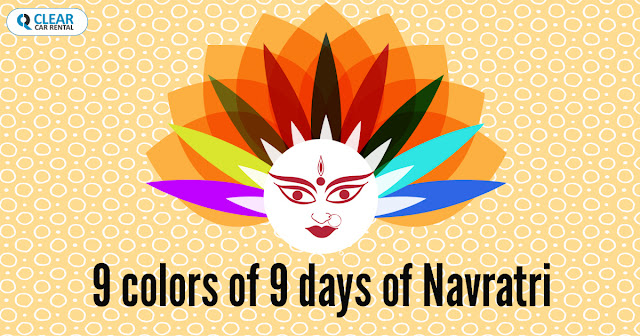 9 colors of 9 days of Navratri