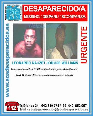 Leonardo Nauzet, joven desaparecido en Carrizal (Ingenio) Gran Canaria