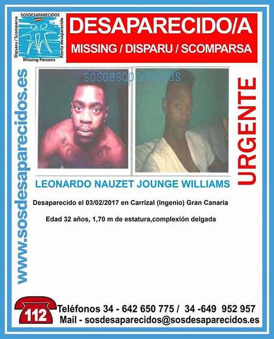 Un joven desaparecido en Carrizal (Ingenio) Gran Canaria