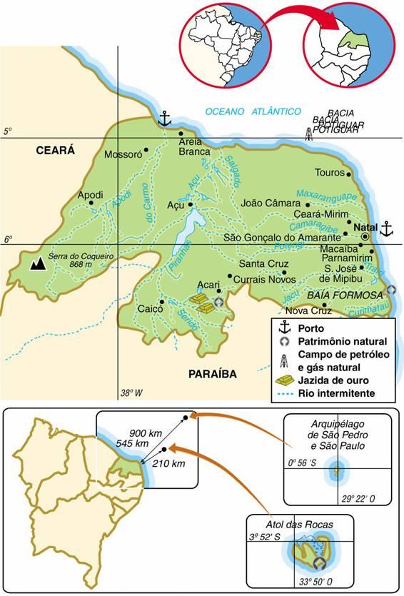 Rio Grande do Norte | Mapas Geográficos do Rio Grande do Norte