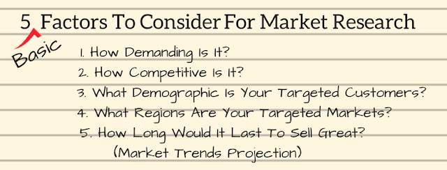 Factors to consider for Market research