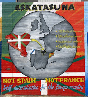 Mural for the Independence of the Basque region