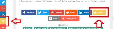 """Ajouter des boutons """"Favoris"""" sur son site web"""