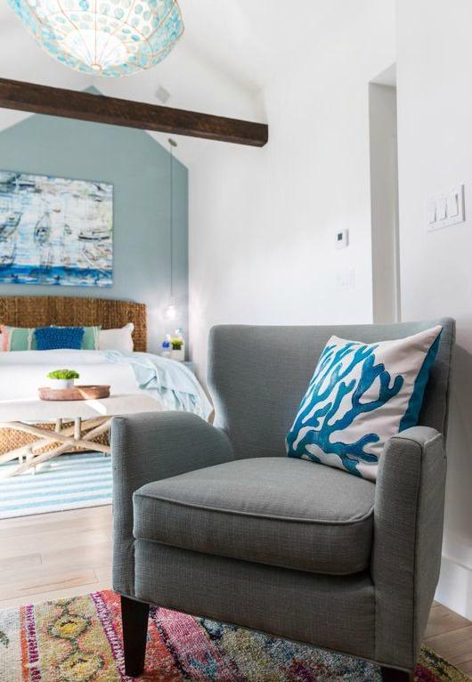 Dreamy Coastal Blue Bedroom