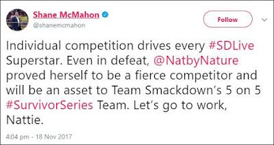 Shane McMahon Announces Natalya As Fifth Member Of Team Smackdown