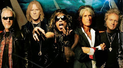 Aerosmith Brad Whitford, Tom Hamilton, Steven Tyler, Joe Perry, Joey Kramer
