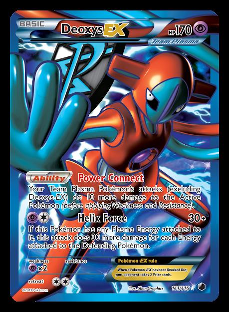 Deoxys Ex Full Art Plasma Freeze Pokemon Card