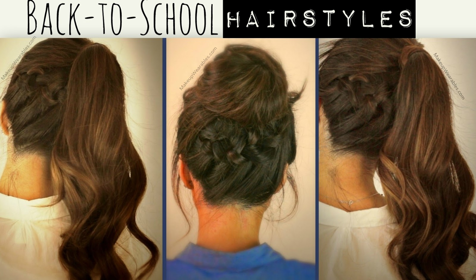 Learn 3 Cute Everyday Casual Hairstyles Updos Hair Tutorial Videos