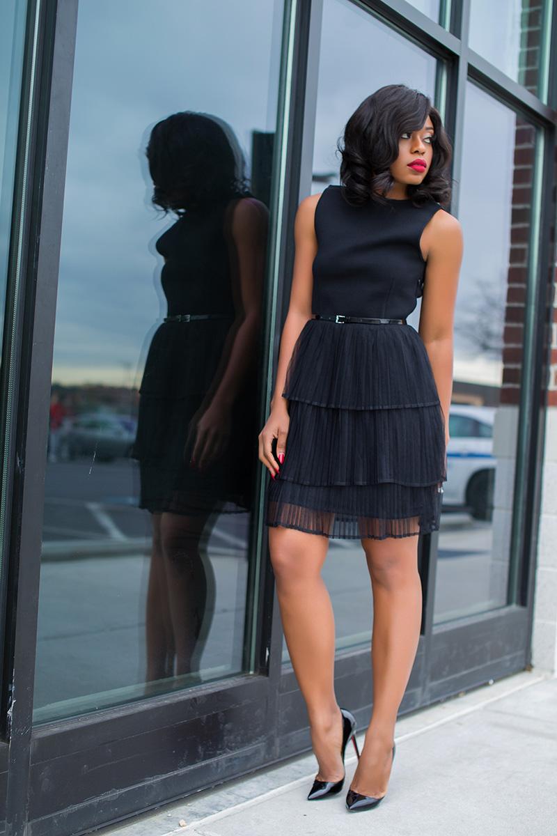 Little black dress, christian louboutin, www.jadore-fashion.com