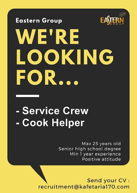 lowongan kerja service crew Eastern Group