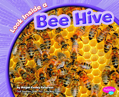 Look Inside A Bee Hive by Megan Cooley Peterson, part of children's book review list about bees